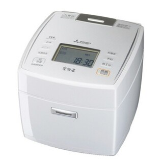 NJ-VE109 三菱電機 IH炊飯器 備長炭 炭炊釜 5.5合炊き ホワイト