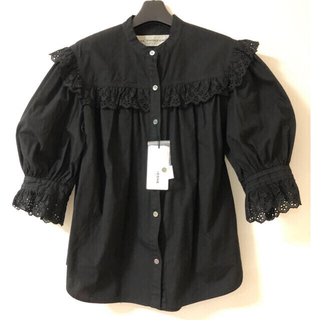 Shinzone - ⭐︎2021SS 完売品⭐︎Shinzoneコットンフリルブラウス ブラック