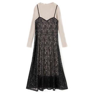 GRL - GRL ニット レースキャミワンピースセットアップ ドレス 人気 フォーマル