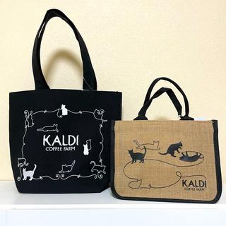 カルディ(KALDI)のカルディ。2021ネコの日。バッグ。タンブラー。キャニスター10点セット。猫の日(トートバッグ)