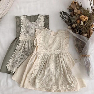 Caramel baby&child  - 刺繍エプロン付ワンピース