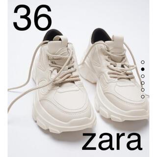 ZARA - ZARA チャンキーソールプリムソールスニーカー 36