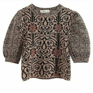 ZARA - ふんわり袖 刺繍カットソー