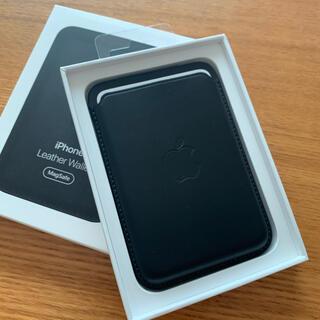 Apple - 純正☆MagSafe対応 iPhone レザーウォレット ブラック