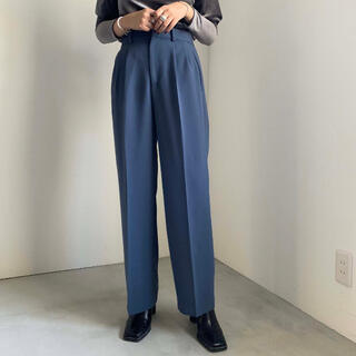Ameri VINTAGE - 【Ameri】2 TUCKS STRAIGHT PANTS