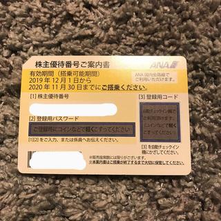 エーエヌエー(ゼンニッポンクウユ)(ANA(全日本空輸))のANA  全日空株主優待券 2021年5月31日まで使用期限延長(航空券)