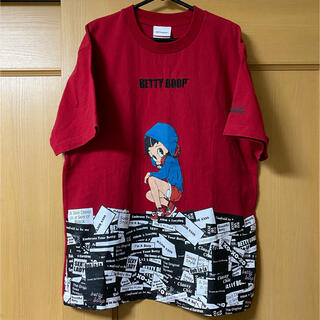 HYSTERIC GLAMOUR - BETTY BOOPベティーブープ Tシャツ赤(L)