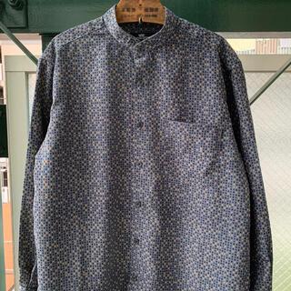 ART VINTAGE - 2000円セール 90s 総柄シャツ デザインシャツ アート バンドカラーシャツ