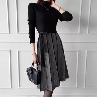 ZARA - 韓国ファッション ニットワンピース ワンピース レディース 冬物処分セール