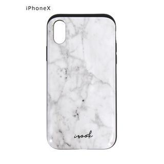 アイスー(i-SOOK)の大理石柄 カードケース内蔵型iPhoneXケース(iPhoneケース)
