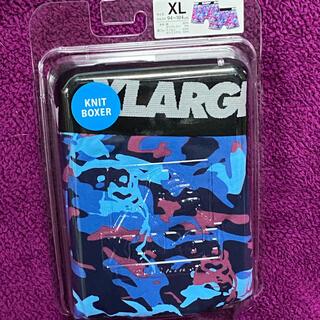 エクストララージ(XLARGE)の新品送料無料 エクストララージ ボクサーパンツ XL カモ柄 ブルー ケース付(ボクサーパンツ)