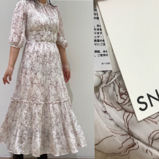 snidel - 新品タグ付き 今季 ティアードプリーツワンピース