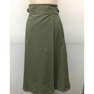 ジュエルチェンジズ(Jewel Changes)のEMMEL REFINES購入 カーキミリタリ風スカート 新品未使用タグ付き(ひざ丈スカート)