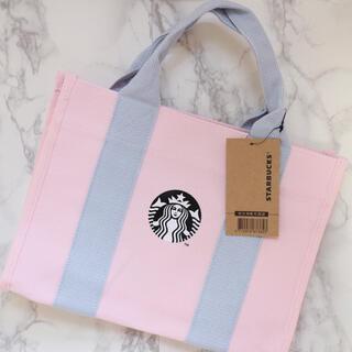 Starbucks Coffee - 【新品】台湾スターバックス キャンバストートバッグ ピンク さくら 桜 春