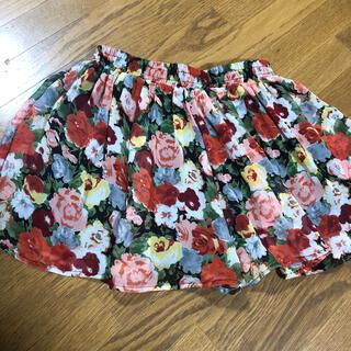 セシルマクビー(CECIL McBEE)のCECIL Mc BEE 花柄 キュロットスカート(ミニスカート)