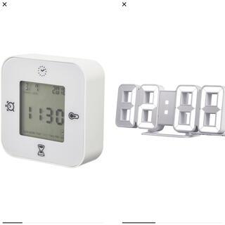 IKEA - IKEA 時計 クロッキス ノルオッタ(ホワイト)セット