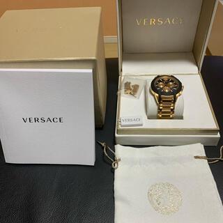 ジャンニヴェルサーチ(Gianni Versace)のVERSACE ヴェルサーチ 腕時計 正規品 本物 メンズ ゴールド 箱付(腕時計)