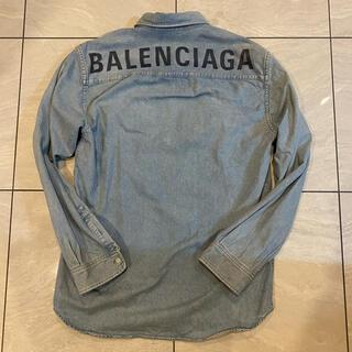 バレンシアガ(Balenciaga)の【最安値】BALENCIAGA バレンシアガ デニムシャツ 37(シャツ)