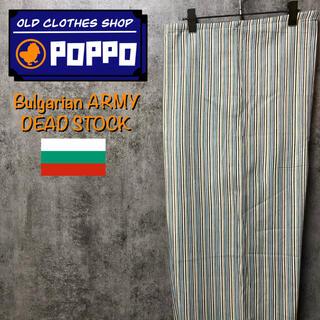 【デッドストック】ブルガリア軍☆リメイク・リサイズストライプパジャマパンツ