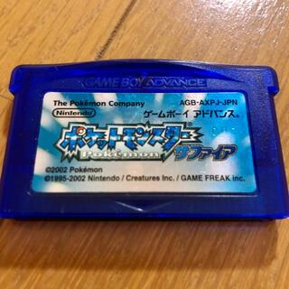ゲームボーイ(ゲームボーイ)のGBA ポケットモンスター サファイア(携帯用ゲームソフト)