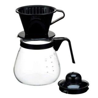 iwaki(イワキ) 耐熱ガラス コーヒーポット & ドリッパー ブラック 1L(その他)