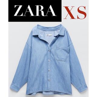 ZARA - 【新品/未着用】ZARA ポケット付きデニムシャツ ルーズフィットデニムシャツ