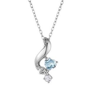 4℃ - 4℃ ネックレス K10WG ダイヤモンド