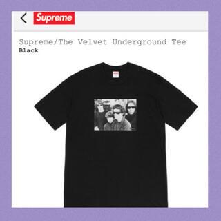 シュプリーム(Supreme)のL 本物 新品 supreme velvet tシャツ パーカー スニーカー(Tシャツ/カットソー(半袖/袖なし))