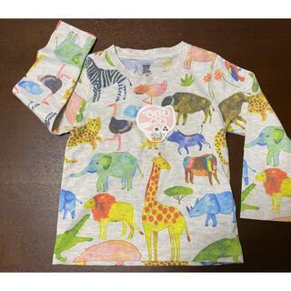 Design Tshirts Store graniph - グラニフ アニマルシャツ 90(100) 長袖 中古