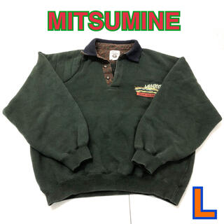 Mitsumine - 77 古着 MITSUMINE スウェット L グリーン 襟付
