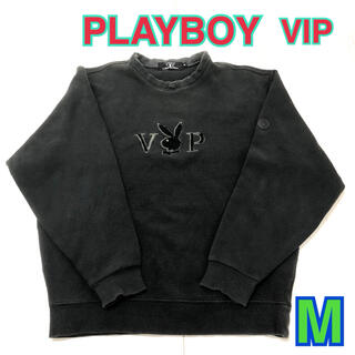 プレイボーイ(PLAYBOY)の78 古着 PLAYBOY VIP スウェット M ブラック(スウェット)
