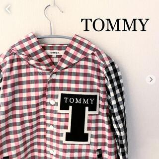 トミー(TOMMY)のTOMMY トミー ジャンパー ブルゾン Mサイズ レディース チェック フード(ブルゾン)