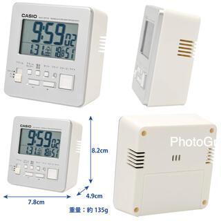 カシオ(CASIO)の電波時計 カシオDQD-805J-8JF シルバー(置時計)