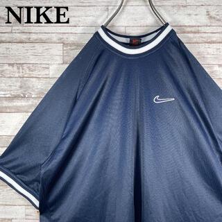 NIKE - 【古着】90s NIKE ナイキ 刺繍ロゴ クルーネック メッシュ Tシャツ L