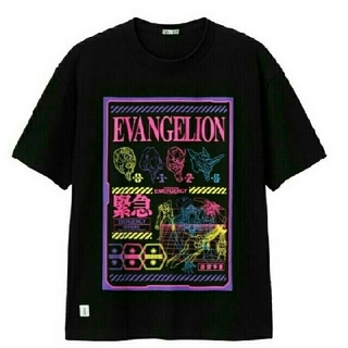 GU - 新品 完売品! エヴァンゲリオン gu コラボ ビッグT 5分袖 Tシャツ L