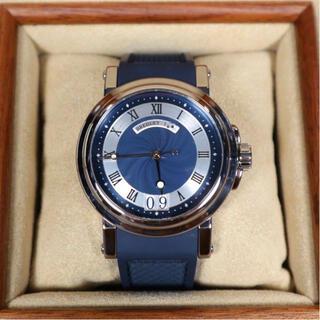 Breguet - ブルー 5817ST ブレゲ マリーンII ラージデイト