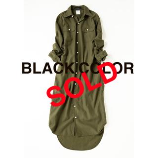 MADISONBLUE - 売り切れ❗️マディソンブルー★ 新品タ★ パールシャツワンピースブラックカラー