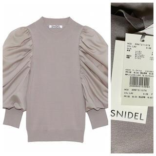 snidel - 【新品】SNIDEL スナイデル パフスリニットプルオーバー F LAV