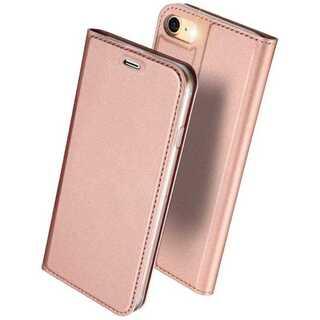 【D11】iPhone7/8(ローズゴールド)手帳型マグネット付き