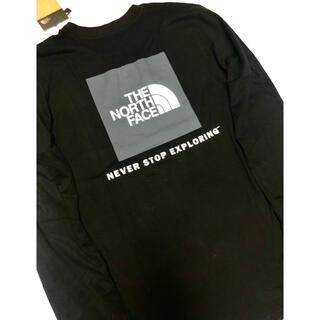 THE NORTH FACE - ザ ノースフェイス 袖サイド ロゴ ロング Tシャツ ブラック US/Sサイズ