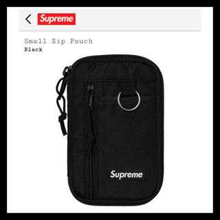Supreme - 【Black】 Supreme Small Zip Pouch 2019 FW