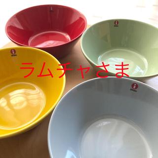 イッタラ(iittala)のラムチャさま 専用 レッド セラドングリーン 二枚セット(食器)