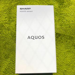 シャープ(SHARP)のAQUOS sense4 sh-m15  ブラック 新品・未開封品(スマートフォン本体)
