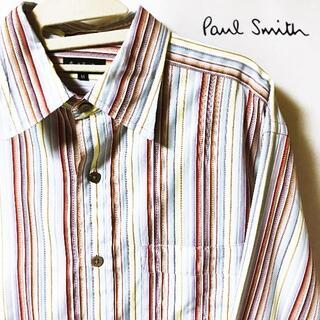 Paul Smith - 【paul smith】ポールスミス マルチストライプ 切替柄 シャツ