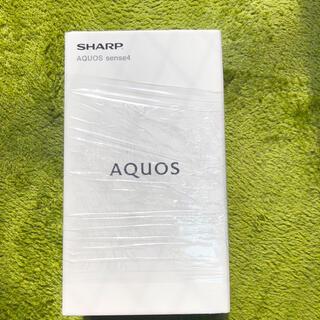 シャープ(SHARP)の新品未使用 シャープ AQUOS sense4 SH-M15 シルバー(スマートフォン本体)