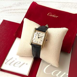 Cartier - 美品✨カルティエCartier☆アラビア文字マストタンク腕時計