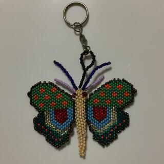 蝶 アメリカ ビーズ キーホルダー 1(キーホルダー)
