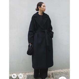 エンフォルド(ENFOLD)のリムアーク リラックスガウンコート 36 ブラック 美品 ロングコート(ロングコート)