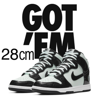 ナイキ(NIKE)の28 NIKE DUNK HIGH  Barely Green ALL-STAR(スニーカー)