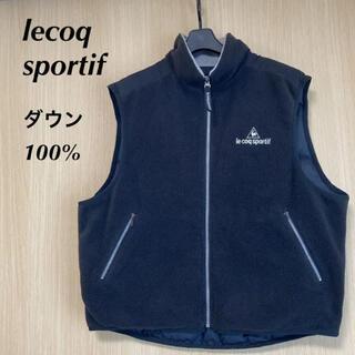 ルコックスポルティフ(le coq sportif)のlecoq ルコックスポルティフ GOLF メンズ M ベスト ダウン フリース(ウエア)
